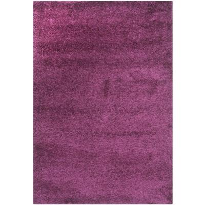 California Shag Purple 6 ft. 7 in. x 9 ft. 6