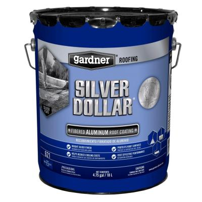 4.75 Gal. Silver Dollar Fibered Aluminum Roof Coating (18-Pallet)
