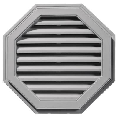 27 in. Octagon Gable Vent #016 Gray Product Photo