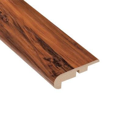 Home Legend High Gloss Durango Applewood 7/16 in. Thick x 2-1/4 in. Wide x 94 in. Length Laminate Stairnose Molding