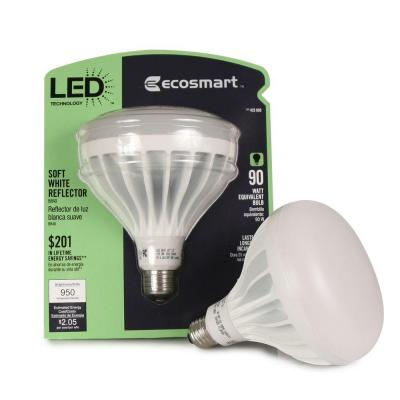 EcoSmart 90W Equivalent Soft White (2700K) BR40 LED Flood Light Bulb (4-Pack)-DISCONTINUED
