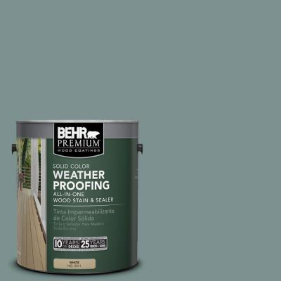 BEHR Premium 1 gal. #SC-119 Colony Blue Solid Color Weatherproofing All-In-One Wood Stain and Sealer