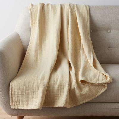 Gossamer Cotton Woven Throw