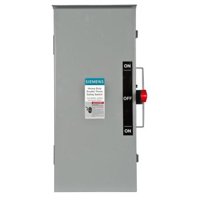 Double Throw 100 Amp 600-Volt 3-Pole Outdoor Non-Fusible Safety Switch