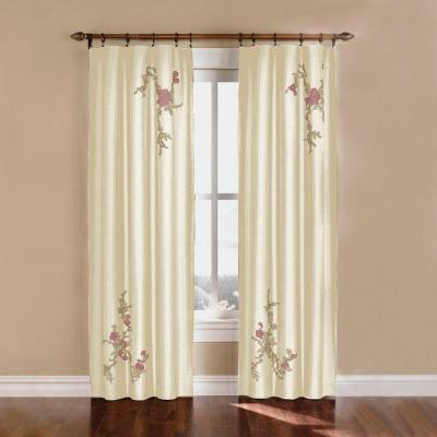 Curtainworks Asia 44 In. x 95 In. Ivory...