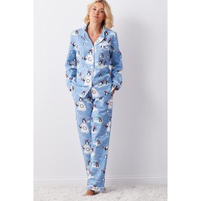 Family Flannel Women's Penguin 2-Piece Classic Pajama Set