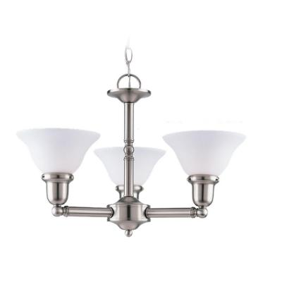 Sea Gull Lighting Sussex 3-Light Brushed Nickel Single Tier Chandelier 31060-962