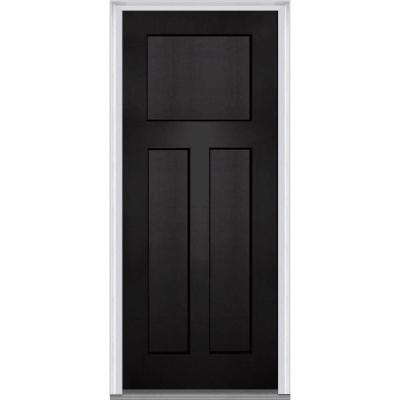 36 in. x 80 in. Shaker 3-Panel Painted Fiberglass Smooth Prehung