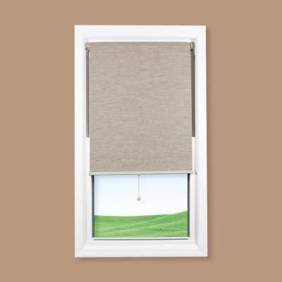 Coolaroo Oatmeal Cordless Room Darkening Roller Shade - 52 in. W x 72 in. L