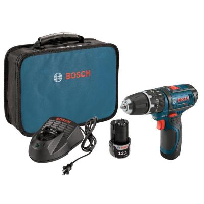 Bosch 12 Volt Lithium-Ion Cordless Variable Speed Hammer Drill/Driver Kit with 2.0 Ah Battery
