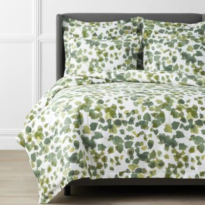 Legends Hotel Greenery Cotton and TENCEL Lyocell Multicolored Sateen Duvet Cover
