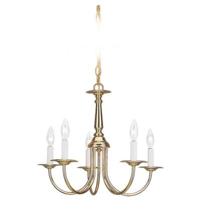 Sea Gull Lighting Traditional Single - Tier in Polished Brass Finish 3916-02
