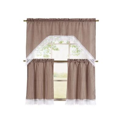 Piece Kitchen Curtain Tier and Valance SetYMK004390  The Home Depot