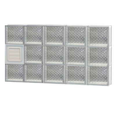 38.75 in. x 23.25 in. x 3.125 in. Diamond Pattern Glass Block Window with Dryer Vent Product Photo