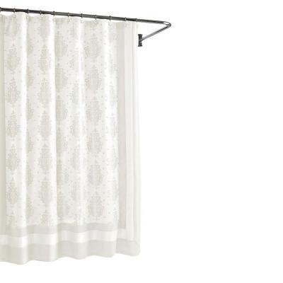 Roma White 72 in. W Shower Curtain