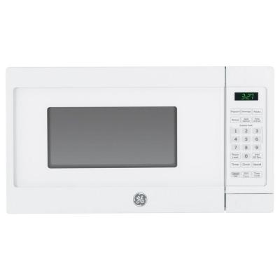 GE 0.7 cu. ft. Small Countertop Microwave in White