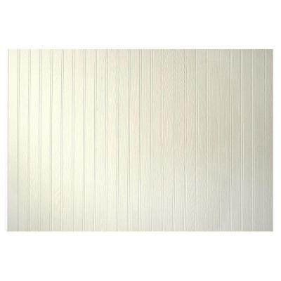 3/16 in. x 48 in. x 32 in. Pinetex White Wainscot