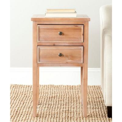 Safavieh Toby Red Maple Storage End Table