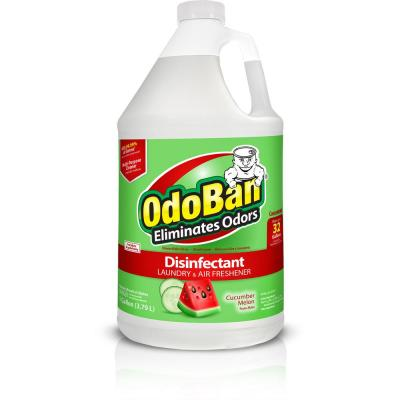 OdoBan 1 Gal. Cucumber Melon Odor Eliminator and Disinfectant Multi-Purpose Cleaner Concentrate