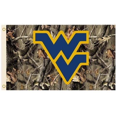 NCAA 3 ft. x 5 ft. Realtree Camo Background West Virginia