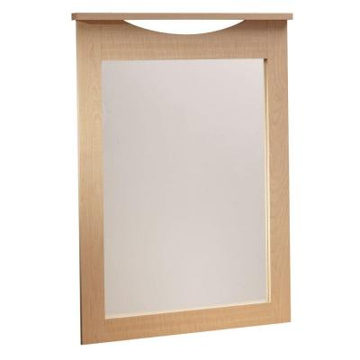 South Shore Urben 41 in. x 30 in. Natural Maple Framed Mirror