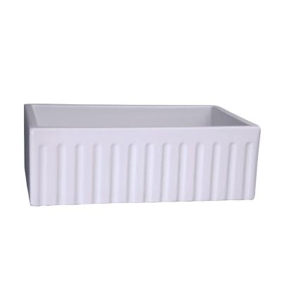 Barclay Products Felicity Farmer Sink Fireclay 29 in. 0-Hole Single Basin Kitchen Sink in White