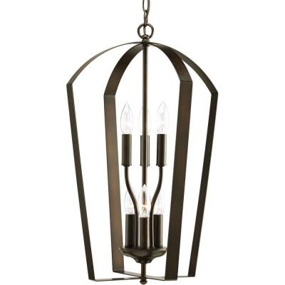 Gather Collection 6-Light Antique Bronze Foyer Pendant