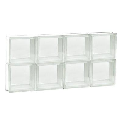 Frameless Clear Pattern Non-Vented Glass Block Window
