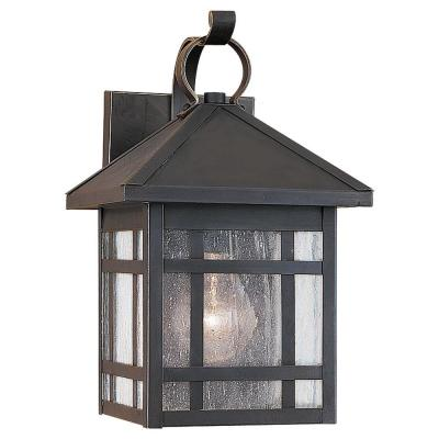 Sea Gull Lighting Largo 1-Light Antique Bronze Outdoor Wall Fixture