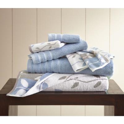 6-Piece Organic Vines Yarn Dyed Towel Set