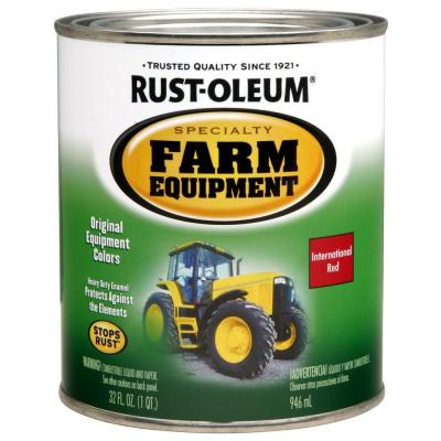 Rust-Oleum Specialty 1-qt. International Red Gloss Farm Equipment Paint (Case of 2)