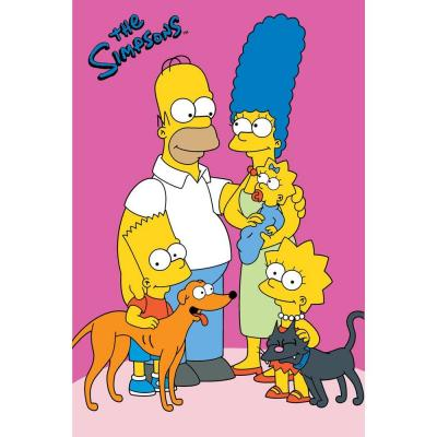Fun Rugs The Simpsons Loving Family Multi Colored 31 in. x 47 in. Area Rug