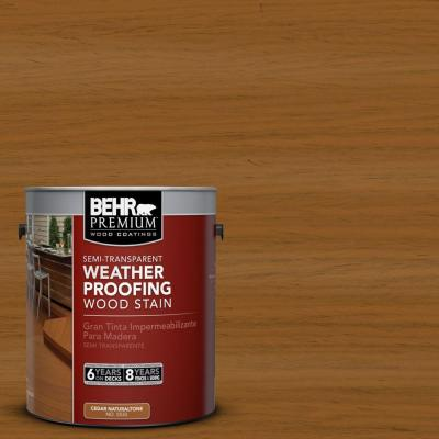 BEHR Premium 1-gal. #ST-134 Curry Semi-Transparent Weatherproofing Wood Stain