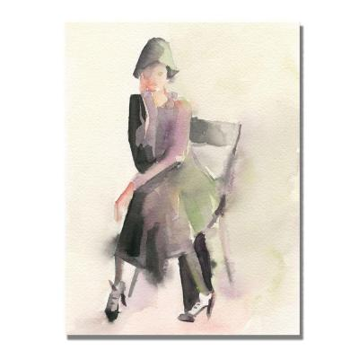 Trademark Fine Art 24 in. x 32 in. Woman in Cloche Hat Canvas Art-DISCONTINUED