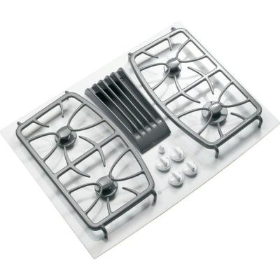 GE Profile 30 in. Gas on Glass Cooktop in...