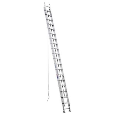 Werner 40 ft. Aluminum D-Rung Extension Ladder with 300 lb. Load Capacity Type IA Duty Rating