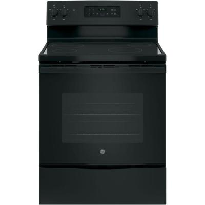 30 in. Free-Standing Electric Range in Black