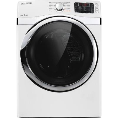 Samsung 7.5 cu. ft. Electric Dryer with Steam in White-DISCONTINUED