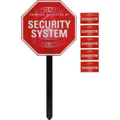 GE SmartHome Security Sign Yard Stake and Window Decals