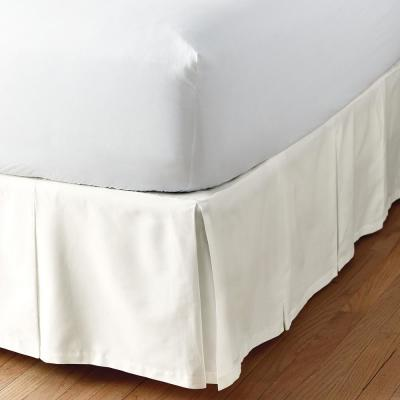 Simple Tuck 21 in. Box Pleat Solid Bed Skirt