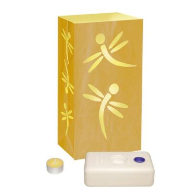 Luminaria LumaBase Yellow Dragonfly Luminaries (12-Pack)