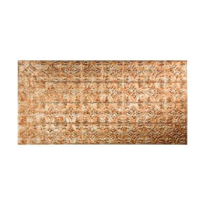 Fasade 96 in. x 48 in. Traditional 2 Decorative Wall Panel in Bermuda Bronze