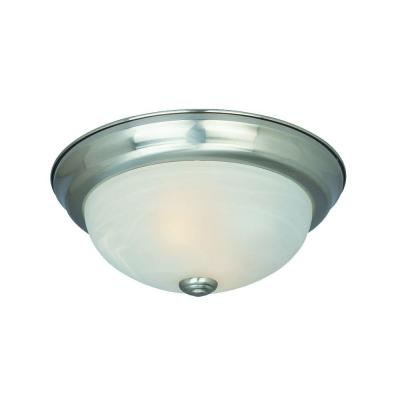 Reedley Collection 3-Light Satin Platinum Ceiling Flushmount (20-Pack) Product Photo