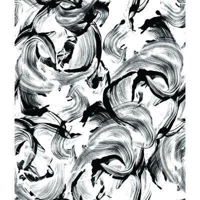 56 sq. ft. L'Amour Black and White Wallpaper