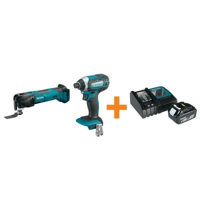 18-Volt LXT Lithium-Ion Cordless Multi-Tool and Impact Driver with Free Battery