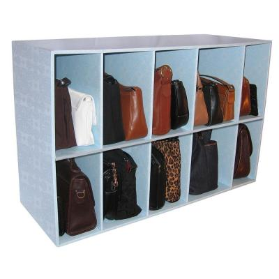 Luxury Living 33 in. W x 21 in. H x 12 in. D Closet and Purse 10-Cube Organizer