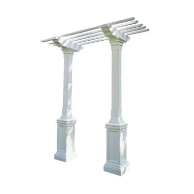 Heritage 103 in. x 36 in. Limestone Single-Beam, Maintenance-Free Arbor Product Photo