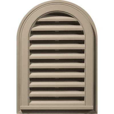 Builders Edge 14 in. x 22 in. Round Top Gable Vent #085 Clay