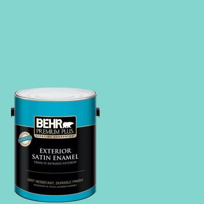 BEHR Premium Plus 1-gal. Home Decorators Collection Island Oasis Satin Enamel Exterior Paint