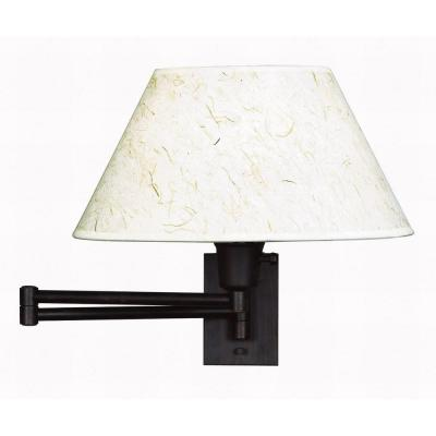 Kenroy Home Simplicity 13 in. Bronze Wall Swing Arm Lamp 30110BRZ